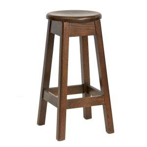 Texas Oak Bar Stool NZ - Walnut Colour