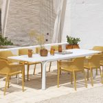 Alloro 210 Extendable in White with Net Chairs