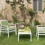 Aria 60 Coffee Table & Aria Chair (White & Lime Green)