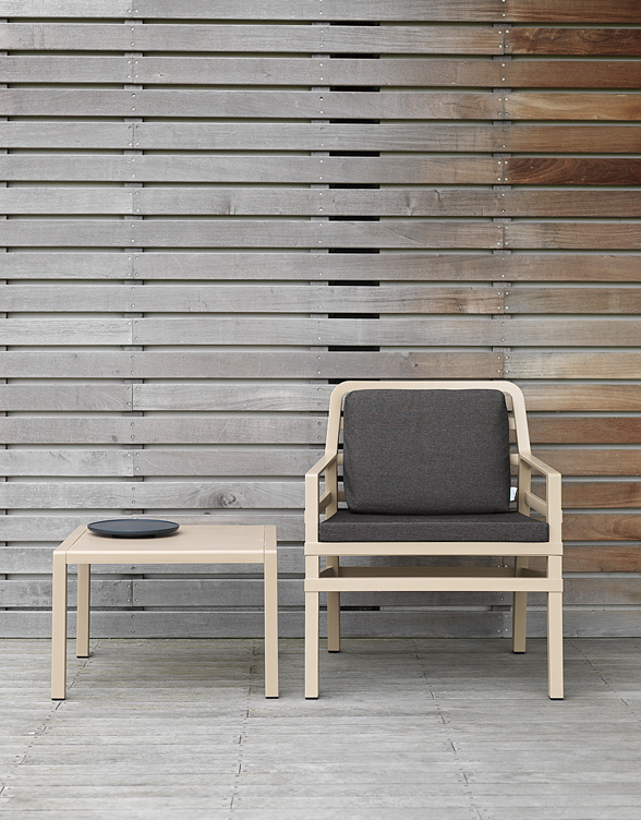 Aria 60 Coffee Table & Aria Chair in Havana Colour