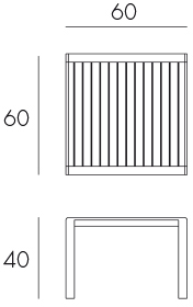 Aria 60 Coffee Table Dimensions & Functionality Diagram