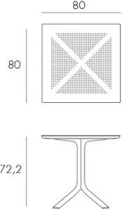 Levante 160-220 Extendable Outdoor Dining Table Dimensions & Functionality Diagram