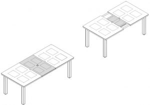 Levante 160-220 Extendable Outdoor Dining Table Dimensions & Functionality Diagram (2)