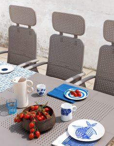 Libeccio 160 Extendable Table & Aquamarina Chairs