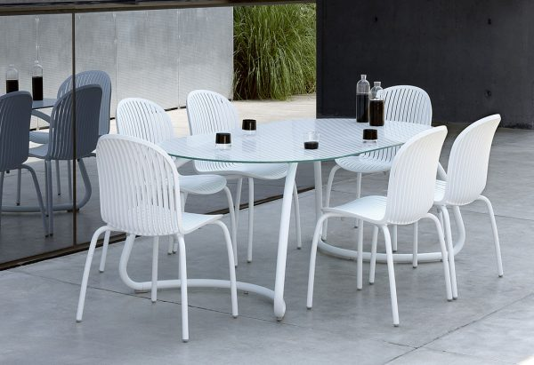 Loto Outdoor Dining Set – White (Loto 190 with Ninfea Chairs)