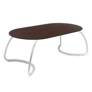 Loto Outdoor Dining Table - Coffee Colour