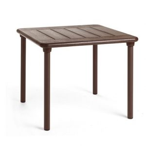 Maestrale 90 Outdoor Table - Coffee Colour