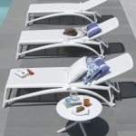 Spritz Coffee Table & Atlantico Sun Loungers – White