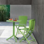 Spritz Table & Zac Chairs on Patio – Lime Green