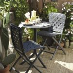 Spritz Table & Zac Spring Chairs on Patio – Charcoal