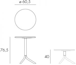 Spritz Table or Coffee Table Dimensions & Functionality Diagram