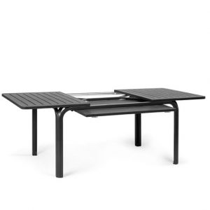 Alloro 140 Extendable Outdoor Table - Charcoal