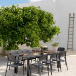 Levante 160 Extendable Setting with Bora Chairs – Charcoal