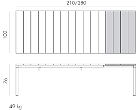 Rio Extendable Outdoor Dining Table Dimensions & Functionality Diagram