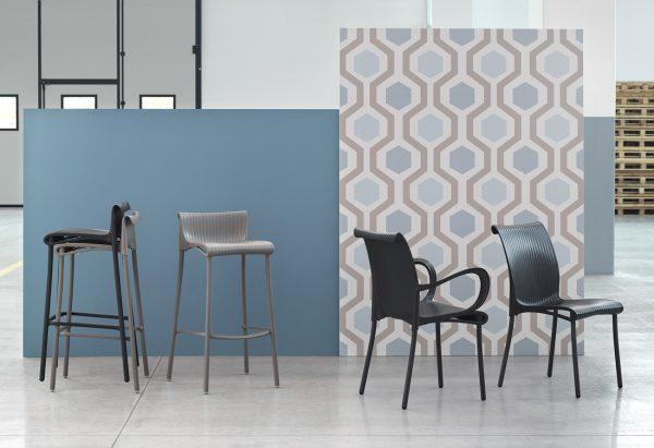 Regina Chair, Dama Chair & Duca Bar Stools